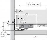 Actro 5D Vollauszug mit Silent System 350mm XS bis 10kg