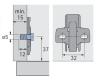 Anschraub-Kreuzmontageplatte 0mm - Direktbefestigungsschrauben