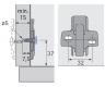 Anschraub-Kreuzmontageplatte Direkt 0mm mit Spezialschrauben
