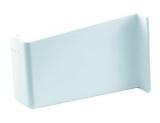 Abdeckkappe für Schrankaufhänger links Kunststoff weiß