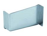 Abdeckkappe für Schrankaufhänger links Stahl vernickelt