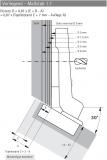 Topfscharnier Intermat 9936 W30  95°  Aufliegender Anschlag