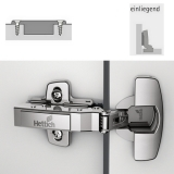 Topfscharnier sensys 95° für dicke Türen ohne Dämpfung (einliegende Tür)