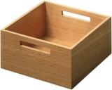 Box 2, Eiche lackiert B/T/H: 236 x 236 x 110 mm