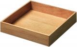 Box 3, Eiche lackiert B/T/H: 236 x 236 x 43 mm