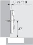 Anschraub-Kreuzmontageplatte TOP 1,5mm sensys