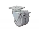 Apparate-Doppelrolle mit Feststeller  Rad 50mm