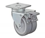 Apparate-Doppelrolle mit Feststeller  Rad 75mm