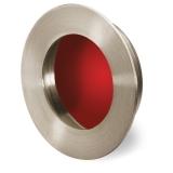 Möbelgriff -Aboa- Edelstahl gebürstet / Rot glänzend