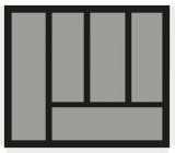 Besteckeinsatz OrgaTray 440 Breite: 451 bis 500mm  Tiefe: 370 bis 440mm