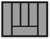 Besteckeinsatz OrgaTray 440 Breite: 501 bis 600mm  Tiefe: 370 bis 440mm