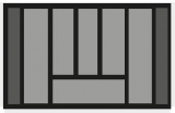 Besteckeinsatz OrgaTray 440 Breite: 601 bis 700mm  Tiefe: 370 bis 440mm