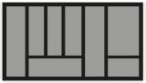 Besteckeinsatz OrgaTray 440 Breite: 701 bis 800mm  Tiefe: 370 bis 440mm