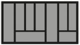 Besteckeinsatz OrgaTray 440 Breite: 801 bis 900mm  Tiefe: 370 bis 440mm