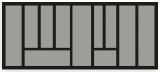 Besteckeinsatz OrgaTray 440 Breite: 1091 bis 1150mm  Tiefe: 370 bis 440mm