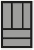Besteckeinsatz OrgaTray 440 Breite: 301 bis 350mm  Tiefe: 441 bis 520mm