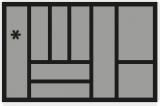 Besteckeinsatz OrgaTray 440 Breite: 701 bis 800mm  Tiefe: 441 bis 520mm