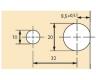 Exzenter Verbindungsbeschlag VB 36 für Böden 19mm