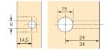 Rastex 15 für 29mm Böden ohne Abdeckrand blank