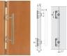 Griff-Adapter für Faltschiebetüren Chrom matt