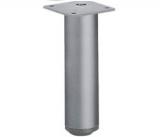 Möbelfuß Lano RO aus Aluminium silber eloxiert 80mm