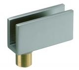 Glastürscharnier Messing 40/20 verchromt matt  (Garnitur)