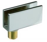 Glastürscharnier Messing 40/20 verchromt poliert  (Garnitur)