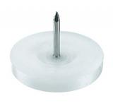 Gleitnägel Kunststoff weiss 10mm  (100 Stück)