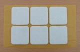 Filzgleiter quadratisch, selbstklebend, 40/40 x 3mm  (6 Stück)