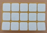 Filzgleiter quadratisch, selbstklebend, 25/25 x 3mm  (15 Stück)
