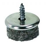 Filz-Parkettgleiter zum Anschrauben  mit Metallgehäuse, 24mm