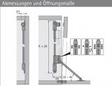 Klappenbremse Klassik D / 290 mit Magnet Zuhaltung (Links)