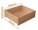 Holzschubkastenlänge 240mm, Breite von 200mm bis 300mm