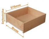 Holzschubkastenlänge 570mm, Breite von 601mm bis 700mm