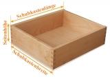 Holzschubkasten  Länge 301 bis 400mm - Breite 201 bis 300mm TypA