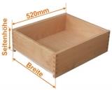 Holzschubkasten Nennlänge 520mm  Breite 500 bis 600mm
