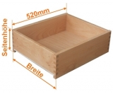 Holzschubkasten Nennlänge 520mm  Breite 300 bis 400mm
