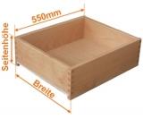 Holzschubkasten Nennlänge 550mm  Breite 200 bis 300mm