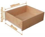 Holzschubkasten Nennlänge 500mm  Breite 800 bis 900mm