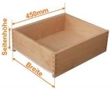 Holzschubkasten Nennlänge 450mm  Breite 800 bis 900mm