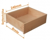 Holzschubkastenlänge 240mm, Breite von 501mm bis 600mm