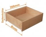 Holzschubkastenlänge 260mm, Breite von 401mm bis 500mm