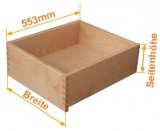 Innen - Holzschubkasten  Länge 553mm - Breite 401 bis 500mm Typ SL_IL