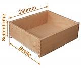 Holzschubkasten Nennlänge 380mm  Breite 501mm bis 600mm