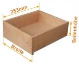 Innen - Holzschubkasten  Länge 253mm - Breite 401 bis 500mm Typ SL_IL