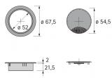Kabeldurchlass 60mm mit Bürste grau