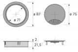 Kabeldurchlass 80mm mit Bürste schwarz