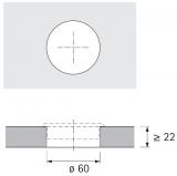 Kabeldurchlass 60mm grau