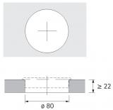 Kabeldurchlass 80mm Buche Optik