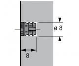 Einschlagmuffe Nylon Durchmesser 8mm, Innengewinde M4 (100 Stück)